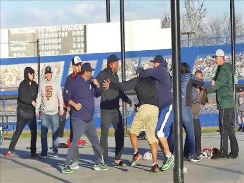 fight at field of dreams   baseball field 2 18 2018