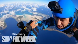 Parachuting Into Shark Infested Waters | Shark Week