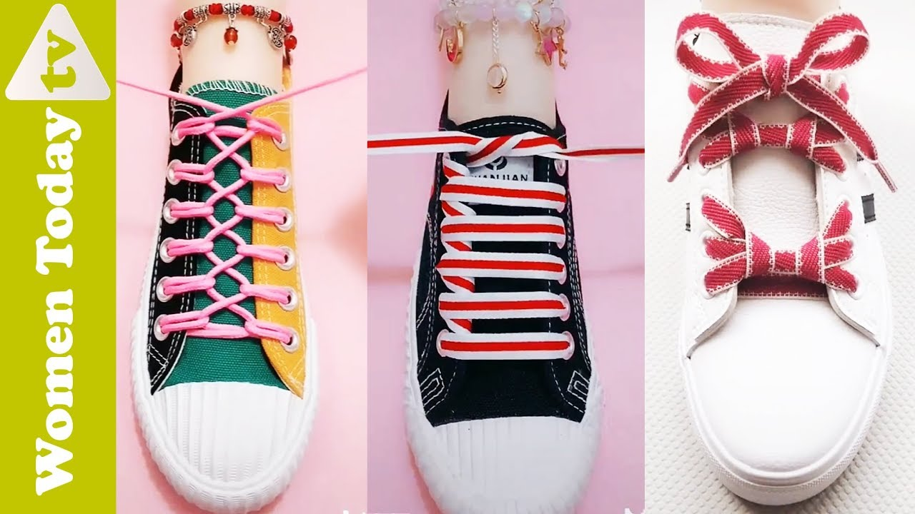 "100 Cách Buộc Dây Giày Nhanh – Đẹp – ""Chất"" | Creative Ways to fasten Shoelaces"