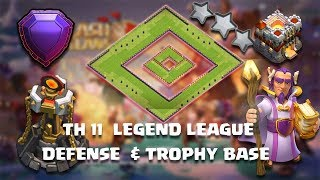 TOWN HALL 11 LEGEND LEAGUE DEFENSE & TROPHY BASE WITH REPLY / CoC