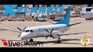 X-Plane 11  B733 SF3 A319      VATSIM   KTPA-MYGF-MYNN-KMIA-MWCR-MKJP