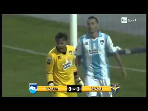 Cristiano Bergodi bestemmia in Pescara Brescia 3-3