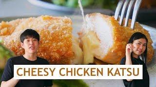 CHEESY CHICKEN KATSU RECIPE  ALA YOUTUBER KONDANG! TOMMY LIM FT ANASTASIA FEBRI thumbnail