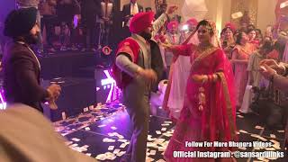 Best Wedding Dance | Punjabi Couple Dance On Wedding | Sansar Dj Links | Likhiya Sanjog Rab Ne
