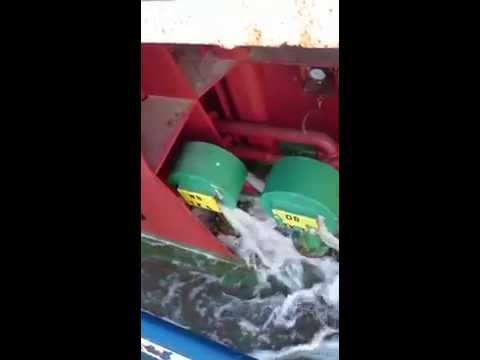 PRESSING of BALLAST WATER TANK - VIDEO 2 - mv NIHAL - 17-04-2015