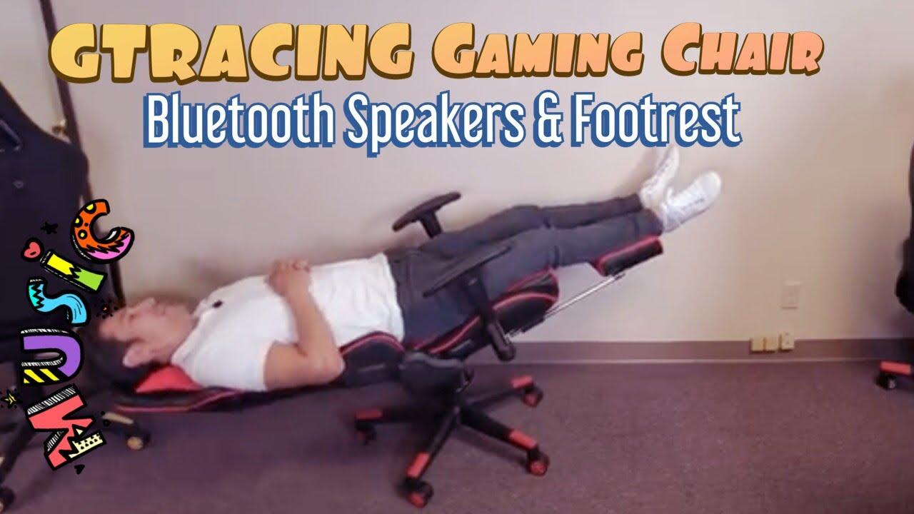 GTRACING Gaming Chair w/ Footrest & Bluetooth Speakers (Check This Bad Boy Out!)