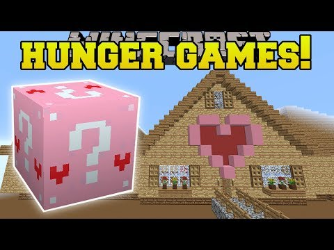 Minecraft: JEN'S GIANT HOUSE HUNGER GAMES - Lucky Block Mod - Modded Mini-Game