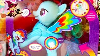 2 Juguetes de My Little Pony | Rainbow Dash Saltarín | Juguetes Interactivos