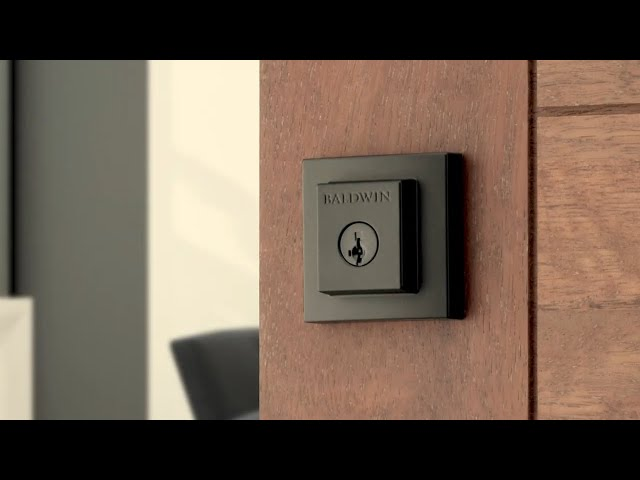 Spyglass Matte Black Door Hardware (with Microban) - Baldwin Prestige Series