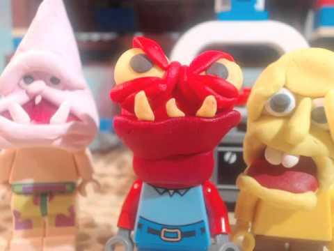 lego spongebob face freeze clip
