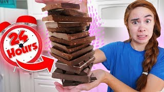 ONLY Eating Chocolate For 24 Hours!