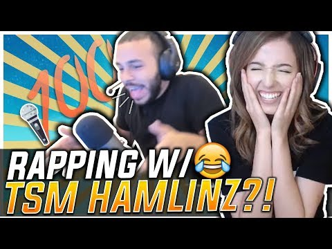 POKI FREESTYLE RAPS W/ TSM HAMLINZ?! Fortnite Battle Royale!