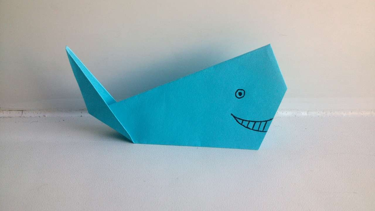 how to make an origami whale diy crafts tutorial