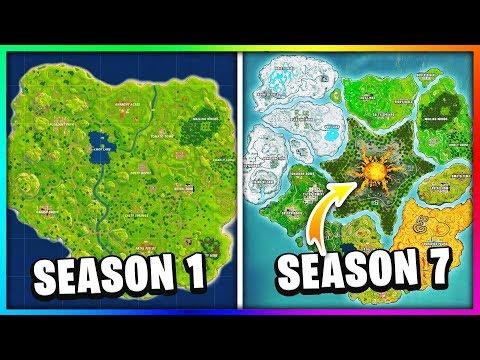 Evolution Of The Entire Fortnite Island! (Season 1-7)