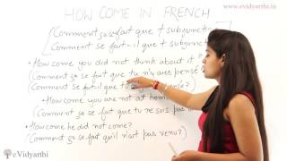 """Saying """"How Come"""" In French - Basic French Institute"""
