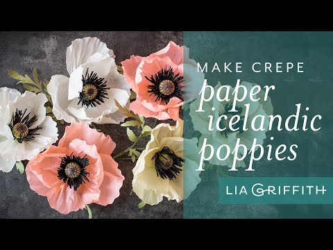 How to Make a Poppy Flower with Crepe Paper