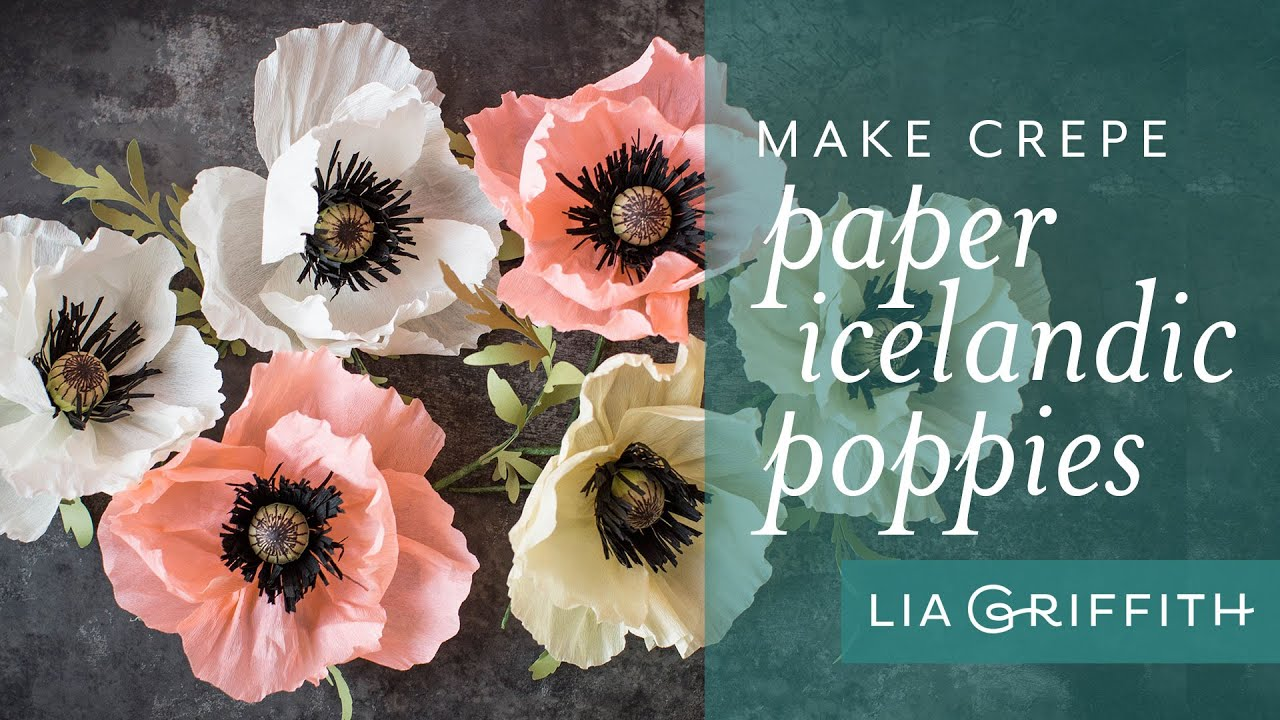 How To Make A Crepe Paper Poppy Youtube