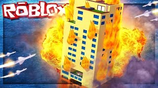TSUNAMI, EARTHQUAKE AND SURVIVAL AT THE BURNING HOTEL / Roblox Disaster Hotel / Roblox English / Game Line