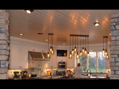 Best Kitchen Renovation Part 1 Wood Ceiling Porcelain Plank Floor