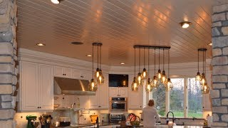Best Kitchen Renovation Part 1  Wood ceiling & Porcelain plank floor