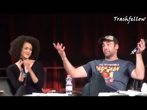 German Comic Con 2015 Game of Thrones Panel Q&A with Rory McCann & Nathalie Emmanuel HD
