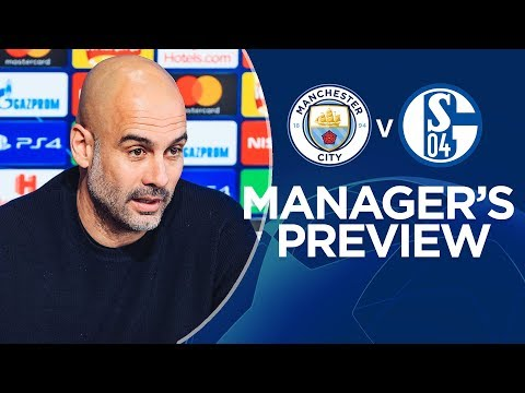 Pep Guardiola previews Man City v Schalke | PRESS CONFERENCE
