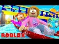 Roblox Roleplay! Wildwater Kingdom Waterpark With Molly And Daisy!