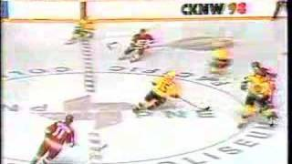 Canucks vs Flames : Introduction - April 13, 1989
