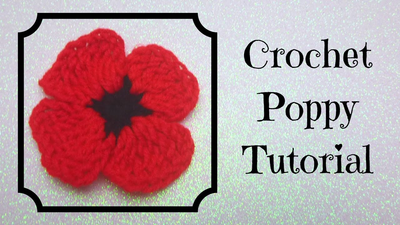 Crochet tutorial crochet poppy youtube crochet tutorial crochet poppy bankloansurffo Image collections