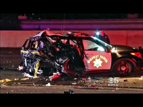 CHP Officer Dies After Suspected Drunk Driver Slams Into Patrol Car on I-880