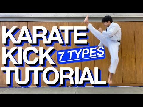 Karate Kick Tutorial! List of 7 Kick Names!