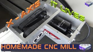CNC Mill Conversion Part 9 – Machining the X-Axis, Assembling and Testing