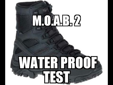 """Merrell MOAB 2 8"""" Tactical Boot Water Proofing Test"""