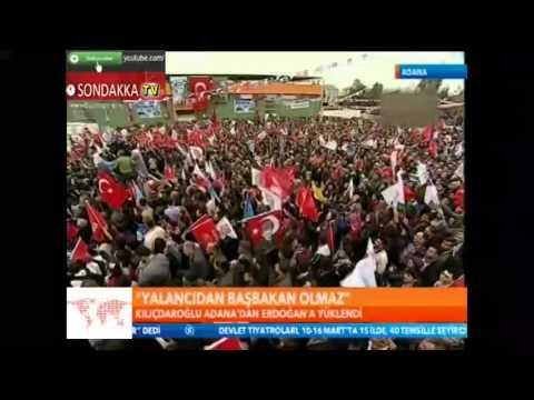 CHP Adana Mitingi : AKP Mitinginde Adamı Çarpmışlar :) 08.03.2014