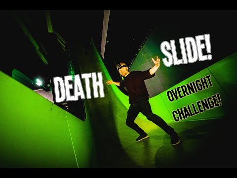 SPENDING THE NIGHT ON A DEATH SLIDE! (ALARM WENT OFF)