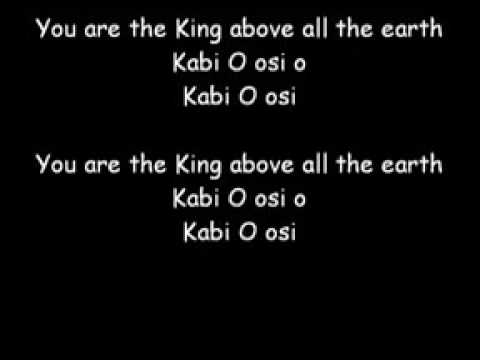 You are the King above all the earth