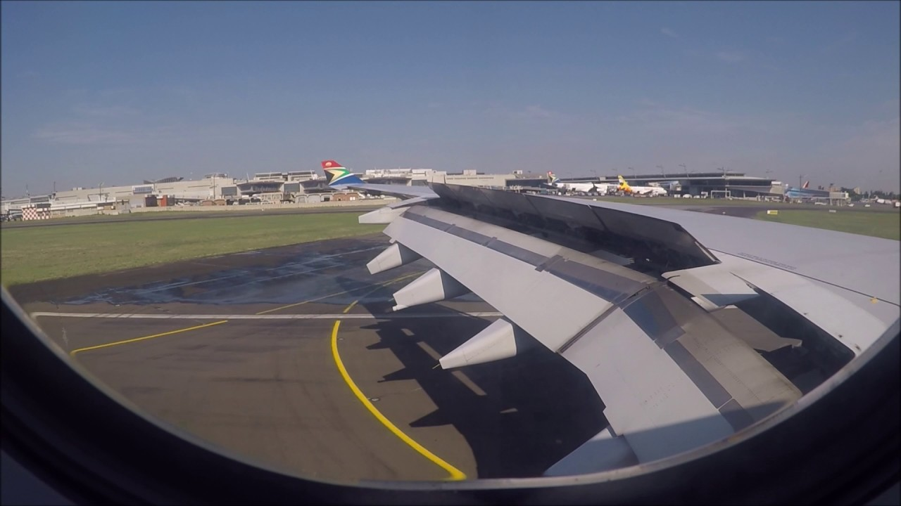 Aeroporto Johannesburg : South african airbus a landing at o r tambo