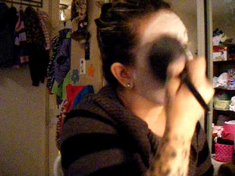 Foo Foo the Clown demo's how to apply and set clown grease paint makeup