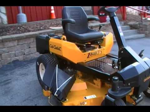 60 Cub Cadet Zero Turn Lawn Mower With Steering Wheel