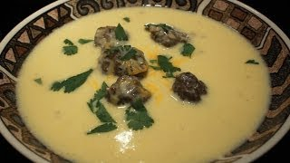 Cheese Soup With Mini Meatballs Recipe