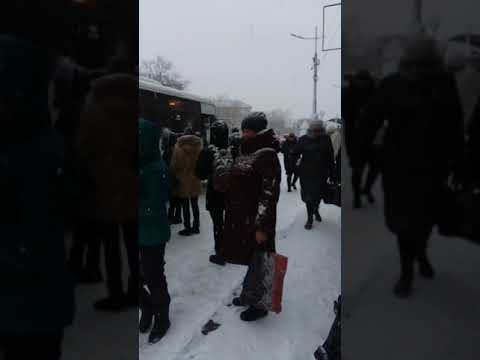 Владивостокцы штурмуют автобусы по дороге на работу