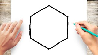 How to Draw a Hexągon Step by Step for Kids