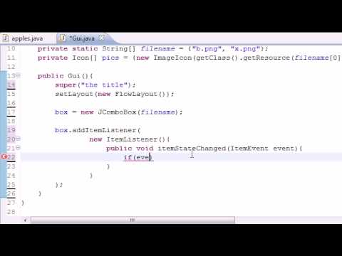 Java Programming Tutorial - 69 - Drop Down List Program