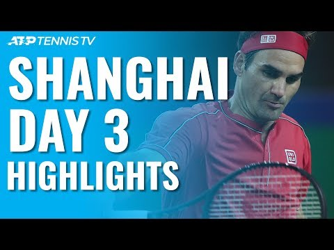 Federer Opens With Win; Fognini Stops Murray \u0026 Medvedev Progresses | Shanghai 2019 Day 3 Highlights