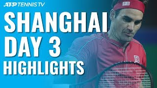 Federer Opens With Win; Fognini Stops Murray & Medvedev Progresses | Shanghai 2019 Day 3 Highlights