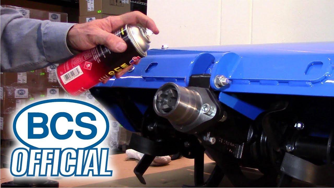 BCS Rear-Tine Tiller Setup - YouTube