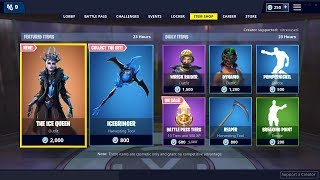 *NEW* ICE QUEEN Skin - SCYTHE PICKAXE is BACK - January 20th Fortnite Daily Item Shop LIVE