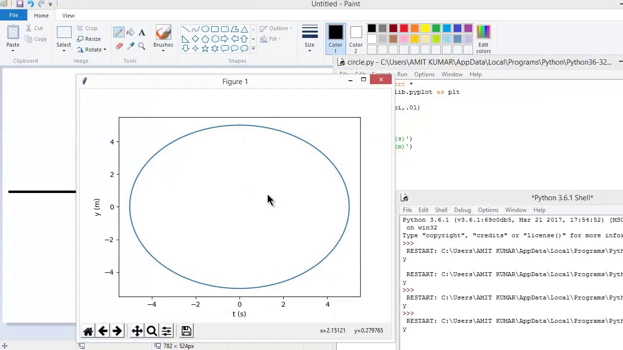 how to plot a circle in python