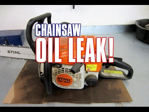 Most Common Cause Of An Oil Leak On STIHL MS170/180-017/018 Chainsaws