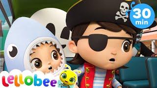 Halloween Wheels on the Bus | @Lellobee City Farm - Cartoons & Kids Songs | Preschool Education